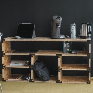 Photo meuble bas Augustine avec connecteurs