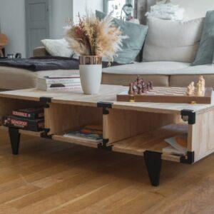 Photo table basse Odette avec connecteurs