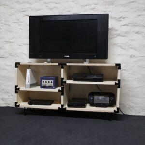 Photo meuble TV modulable avec connecteurs
