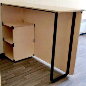Photo table démontable pour appartement avec connecteurs