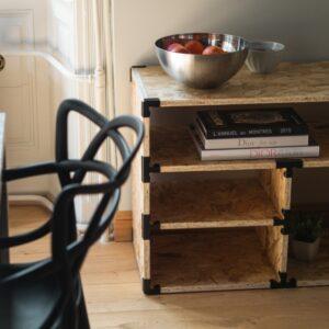 Photo meuble de rangement de salon avec connecteurs